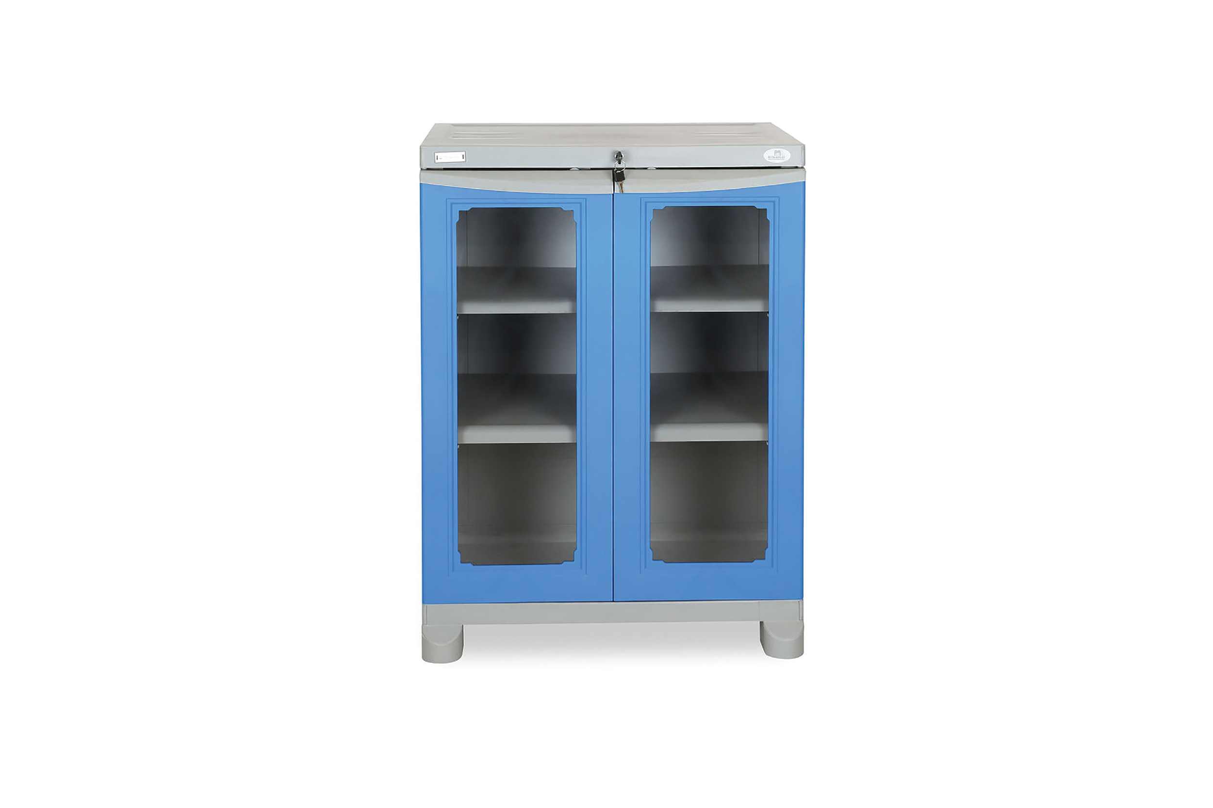 Nilkamal Freedom Small Cabinet - Deep Blue and Grey